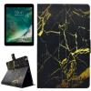 """AppleKing Védő flip cover tok beépített állvánnyal és kártyatárolóval Apple iPad 9.7"""" (2017) / iPad 2018 / iPad Air - fekete márvány"""