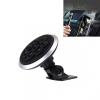 AppleKing Vezeték nélküli QI autótöltő 360° forgó állvánnyal iPhone készülékhez - ezüst