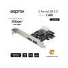 Approx APPPCIE2P3 2db USB 3.0 PCI Express Kártya (Low and High Profile)