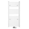 Aqualine ELM66 egyenes radiátor középső bekötéssel 600x1700 mm 700W fehér