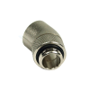 "Aquatuning adapter 30 ° forgatható G1 / 4 ""G1 / 4"" - kerek - silver nikkel /64178/"