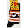 Árpádsávos fekete zokni 36-40