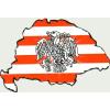 Árpádsávos rakamazi turulos hűtőmágnes Nagy-Magyarország körvonallal 14x8,5 cm