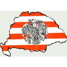 Árpádsávos rakamazi turulos hűtőmágnes Nagy-Magyarország körvonallal 14x8,5 cm hűtőmágnes