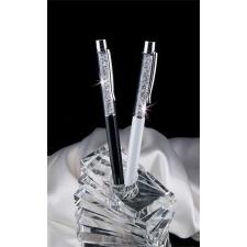 ART CRYSTELLA Golyóstoll, krémfehér, fehér SWAROVSKI® kristállyal töltve, 14 cm, ART CRYSTELLA® toll