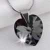 ART CRYSTELLA Nyaklánc, szív formájú, Black Diamond SWAROVSKI® kristállyal, 18mm ART CRYSTELLA®