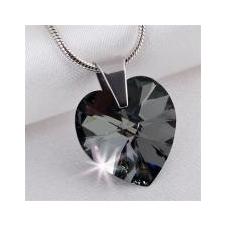 ART CRYSTELLA Nyaklánc, szív formájú, Black Diamond SWAROVSKI® kristállyal, 18mm ART CRYSTELLA® nyaklánc