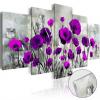 Artgeist Akrilüveg kép - Meadow: Purple Poppies [Glass]