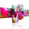 Artgeist Kép - Charming red tulips