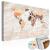 Artgeist Kép parafán - Stony Oceans [Cork Map]