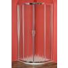 ARTTEC Briliant zuhanykabin chinchilla üveggel, Stone öntött márvány zuhanytálcával