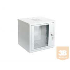 ASM Assmann fali szekrény 10'' 6U 315x300 üvegajtó RAL7035 szerver