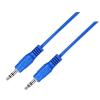 Astrum AUX audió kábel 3,5mm jack apa és 3,5mm jack apa 1.5M kék CB-SMM15-BL AU101