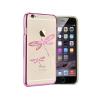 Astrum MC350 keretes szitakötő mintás, Swarovski köves Apple iPhone 6 Plus hátlapvédő pink