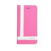 Astrum MC830 TEE PRO mágneszáras Apple iPhone 5G/5S/5SE könyvtok pink-fehér