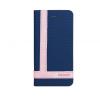 Astrum MC830 TEE PRO mágneszáras Apple iPhone 5G/5S/5SE könyvtok sötétkék-fehér