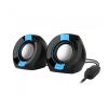 Astrum SU105 fekete-kék 2.0 csatornás 3,5MM multimédia hangszóró USB-s áramellátással, hange