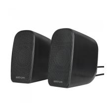 Astrum SU170 fekete 2.0 csatornás 3,5MM multimédia hangszóró USB-s áramellátással, hangerősz hangszóró