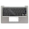 Asus 90NB00L2-R31HU0 gyári új magyar fekete laptop billentyűzet + ezüst felső fedél