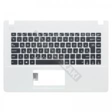 Asus 90NB0492-R30130 gyári új fekete magyar laptop billentyűzet + fehér felső fedél laptop kellék