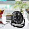 Asztali ventilátor USB csatlakozókábellel, fekete