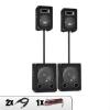 Auna 2.2 DJ Sound System Hangfalak, Mélynyomó szett 2200W