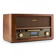 Auna auna Belle Epoque 1906 DAB, retro sztereó rendszer, bluetooth, CD, USB, MP3, AUX, FM/AM mini hifi rendszer
