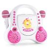 Auna auna Rockpocket, fehér, gyerek karaoke rendszer, CD, AUX, 2 x mikrofon, matrica készlet
