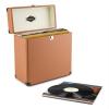 Auna auna TTS6, barna, lemeztartó koffer, bőr, nosztalgikus, 30 LP lemez