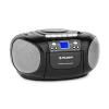 Auna BoomBoy Boom Box, fekete, boombox, hordozható rádió, CD/MP3 lejátszó, kazettás lejátszó