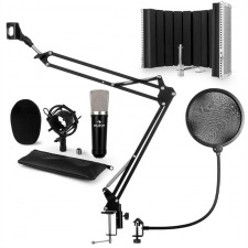 Auna CMO003 V5, fekete, mikrofon készlet, kondenzátoros mikrofon, mikrofonkar, XLR mikrofon