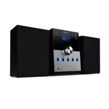 Auna MC-30, DAB mikro sztereó rendszer, 2 hangszóró, DAB+, FM, bluetooth, CD-lejátszó, távirányító, ezüst távirányító