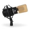 Auna MIC 900BG USB kondenzátor mikrofon, fekete-arany