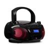 Auna Roadie DAB, CD lejátszó, DAB/DAB+, FM, LED diszkó fényeffektus, bluetooth, fekete