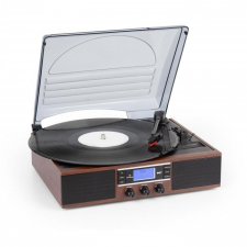 Auna TT-138 DAB, lemezjátszó, DAB+/FM, szíjmeghajtás, 33/45 fordulat/perc, vonalkimenet lemezjátszó