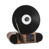 Auna Verticalo SE DAB, retró lemezlejátszó, DAB+, FM tuner, USB, BT, AUX, fa