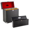 Auna Vinyl Collector tároló- és tisztító szett, lemeztartó bőrönd, tisztító készlet hanglemezekhez