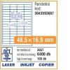 Avery 3667- 48,5x16,9mm FEHÉR AVERY 100lap/dob Etikett