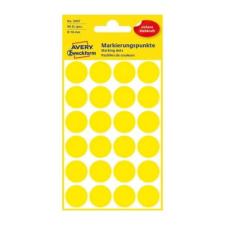 Avery Etikett AVERY 3007 jelölőpont 18mm sárga 96 db/csomag etikett