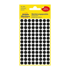 Avery Etikett Avery 3009 jelölõpont 8mm fekete 416 db/csomag etikett