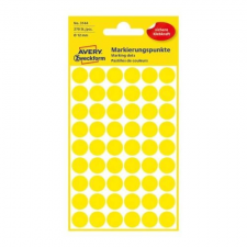 Avery Etikett AVERY 3144 jelölőpont 12mm sárga 270 db/csomag etikett