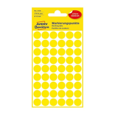 Avery Etikett Avery 3144 jelölõpont 12mm sárga 270 db/csomag etikett