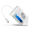AXAGON ADSA-1S USB 2.0 fehér külső HDD/SSD ház (ADSA-1S)