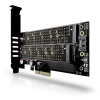 AXAGON PCEM2-D PCI-E - M.2 SSD NVME+NGFF adapter - 2 db M.2 SSD-t tehet asztali PC-be!