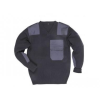 B310 -  NATO pulóver, 100% akril, pamut rátétek - fekete