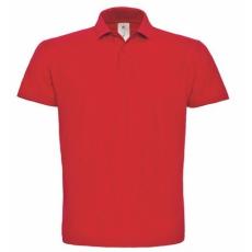 B&C ID.001 galléros póló RED S-XXXL méretek