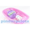 Babakád játékbabáknak kiegészítőkkel - rószaszín