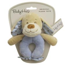 Baby Hug Baby Hug Plüss csörgő - kék kutya - 15 cm plüssfigura