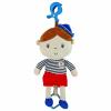 BABY MIX Fejlesztő zenélő rongybaba Baby Mix tengerész fiú