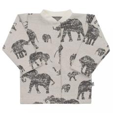 BABY SERVICE Baba kabátka Baby Service Elefánt szürke
